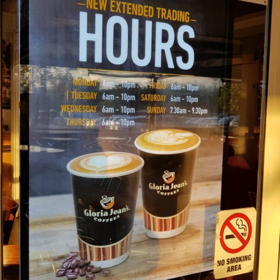 Gloria Jean Coffee Hours